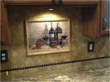 Kitchen Wall Tile Murals Bread and Wine Tile Mural