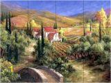 Kitchen Wall Tile Murals Tuscan Bridge Tile Mural Kitchen In 2019