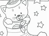 Kitty Cat Christmas Coloring Pages Coloring Christmas Cat Coloring Pages