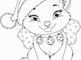 Kitty Cat Christmas Coloring Pages Kitty Cat Christmas Coloring Pages Free
