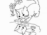 Kitty Cat Coloring Pages Printable Cute Cat Coloring Pages 04