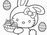 Kitty Printable Coloring Pages Hello Kitty Easter Bunny Coloring Page