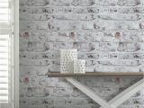 Komar Bricklane Wall Mural Arthouse Whitewashed Brick Wall Wallpaper White