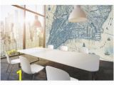 Komar Concrete Blocks Wall Mural Old Vintage City Map New York Wall Mural