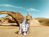 "Komar Stone Wall Mural Wall Mural ""star Wars Lost Droids"" From Komar"