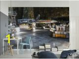 Komar Wall Mural Installation Komar 8 4000 Star Wars Rebel Base Mural Wallpaper Multi Colour