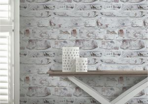 Komar Whitewashed Wood Wall Mural Arthouse Whitewashed Brick Wall Wallpaper White