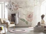 Komar Whitewashed Wood Wall Mural Komar Tantinet Modern Floral Pink Rose Wall Mural Decal Xxl4 049