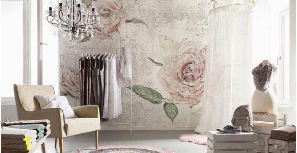 Komar Whitewashed Wood Wall Mural Komar Tantinet Modern Floral Pink Rose Wall Mural Decal Xxl4 049