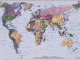 Komar World Map Wall Mural 4 050 World Map Fototapeta Komar Mapa Světa Velikost