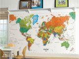 Komar World Map Wall Mural Diy Deko Mit Globen Und Dekoideen Mit Weltkarten – 44