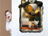 Kung Fu Panda Wall Mural 3 D Kung Fu Panda Fashion Creative Personality Wall Calligraphy and