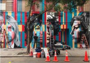 Kurt Cobain Wall Mural Massive 27 Club Mural Painted On Rivington Street Wall