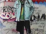 Kurt Cobain Wall Mural the Producer Bdb Kurt Cobain Mixed Media for Sale at 1stdibs