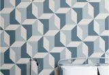 La Feature Wall Murals Papier Peint Fresque Géométrique Bleu Abstrait