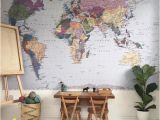 La Maison Wall Mural Floral Komar Decal Komar Colorful World Map Wall Mural Wallpaper 4 050