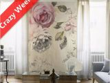 La Maison Wall Mural Floral Komar Decal Wall Murals American Country Style Rose Vintage Non Woven
