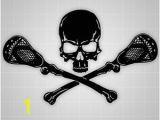 Lacrosse Mural Lacrosse Skull and Crossbones Wall Decal Lacrosse Sticker 32