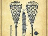 Lacrosse Mural Lacrosse Stick Patent From 1950 Vintage Print by Aged Pixel