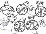 Lady Bug Coloring Pages Bug Coloring Pages