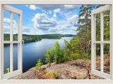 Lake In the Woods Wall Mural Lake View Wall Decal Lake Wall Mural Lake Wall Sticker