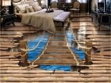 Lake In the Woods Wall Mural Us $23 1 Off Waterproof Floor Mural Painting Lake Ladder 3d Wallpaper 3d Floor Murals Pvc Waterproof Floor Home Decoration In Wallpapers From Home