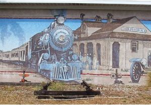 Lake Placid Murals Mural by the Old Railway Station Picture Of Lake Placid Florida
