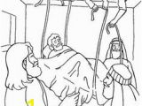 Lame Man Healed Coloring Page 35 Best Jesus Heals the Paralytic Man Images