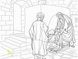 Lame Man Healed Coloring Page Jesus Healing Peter S Mother In Law Coloring Page