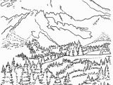 Landscape Coloring Pages for Adults Coloring Pages Mountians
