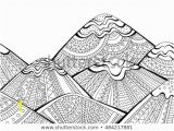 Landscape Coloring Pages for Adults to Print Printable Coloring Page Adults Mountain Landscape Stock Vector
