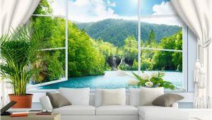 Landscape Murals Walls Custom Wall Mural Wallpaper 3d Stereoscopic Window Landscape