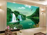 Landscape Murals Walls Popular Green and Desolate Fashion Landscape Landscape Mural 3d