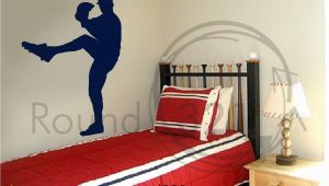 Large Baseball Wall Murals Large Sized Baseball Pitcher Wall Decal with Children S