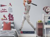 Large Baseball Wall Murals Matt Carpenter Life Size Ficially Licensed Mlb Removable Wall Decal