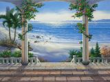 Large Beach Wall Murals Trompe L Oeil Wall Mural