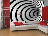 Large Cloth Wall Murals Fototapeta Black and White 3d Tunnel Rozměry Å¡Å™ka X