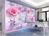 Large Cloth Wall Murals Modern Simple 3d Embossed Rose Wallpaper and Living Room Tv Background Wall Paper Stereo Wall Cloth Mural Custom Size High Definition Wallpaper