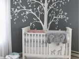Large Cloth Wall Murals Tree Decal Huge White Tree Wall Decals Corner Trees Wall Art Tattoo White Tree 086