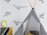 Large Dinosaur Wall Mural origami Dinosaur Stickers