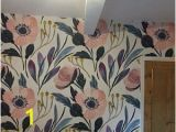 Large Floral Wall Mural Peel and Stick Wallpaper Floral Floral Wallpaper
