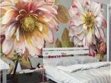 Large Floral Wall Mural Vintage Flower Leaves Idcwp Wallpaper Wall