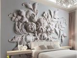 Large Flower Wall Murals Jammory Embossed White Flower Decoratio 3d Fashion Wallpaper