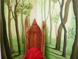 Large forest Wall Mural Enchanted Story forest Mural Hand Painted In Grove Park