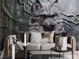 Large forest Wall Mural Us $16 0 Murals Animal Wolf forest Wallpaper Murals 3d Wall Mural for Living Room Backdrop 3d Wolf Wall Murals 3d Wall Paper W Tapety Od