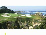 "Large Golf Wall Murals Biggies Wall Mural 60"" X 120"" Pebble Beach Item"