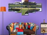 Large Golf Wall Murals Golf Course Wall Art Multi Panel Painting On Canvas American Florida for Living Room Green Swagrass Artwork Modern House Decor Wooden Framed