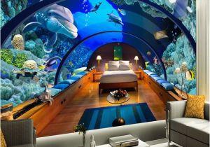 Large Mural Posters Custom 3d Poster Wallpaper Marine Museum Underwater World 3d