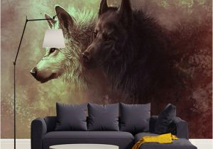 Large Mural Posters Custom 3d Poster Wallpaper Wolf totem Wild Wall Painting