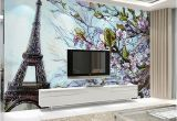 Large Mural Posters Custom Any Size 3d Poster Wallpaper Paris Eiffel tower Mural Wall